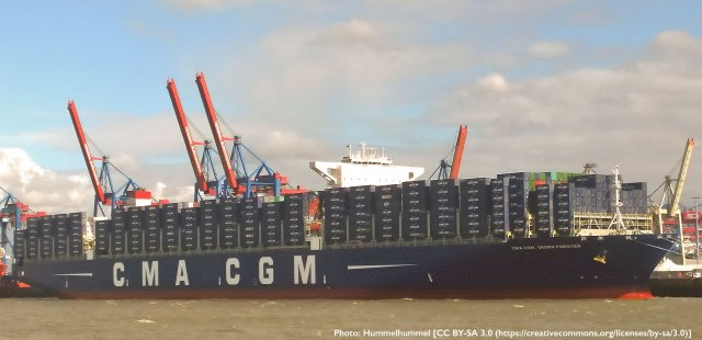 The_new_containership_CMA_CGM_Georg_Forster_in_Hamburg_at_the_Burchardkai_Terminal